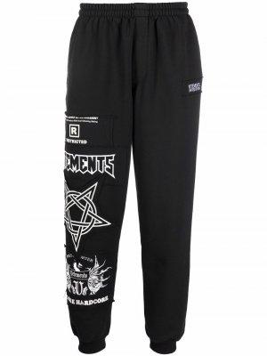 Спортивные брюки с графичным принтом VETEMENTS. Цвет: черный