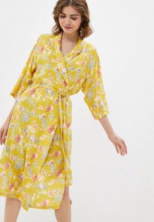 Халат и сорочка ночная Kaftan. Цвет: разноцветный