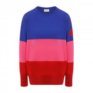 Кашемировый пуловер Moncler. Цвет: синий