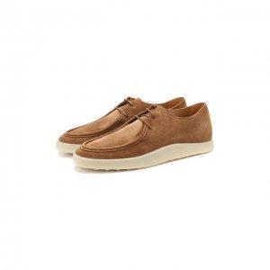 Замшевые ботинки Tod's. Цвет: коричневый