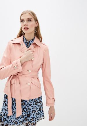 Куртка кожаная Liu Jo White Label. Цвет: розовый