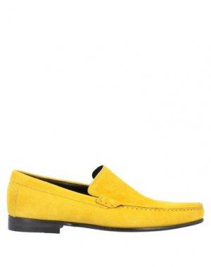 Мокасины BRUNO MAGLI. Цвет: желтый