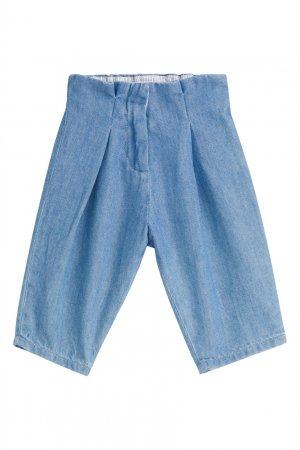 Синие джинсы с защипами Bonpoint. Цвет: multicolor