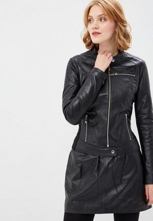 Куртка кожаная Arma Dimaggio. Цвет: черный