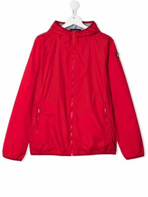 Куртка на молнии с нашивкой-логотипом Ciesse Piumini Junior. Цвет: красный