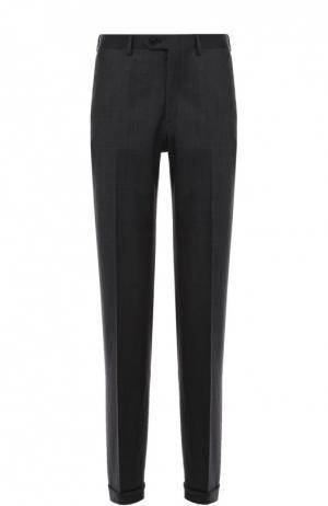 Классические шерстяные брюки Brioni. Цвет: серый