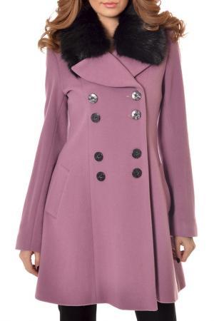 Пальто RADEKS. Цвет: розовый