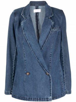 Двубортный блейзер Julian Boyish Jeans. Цвет: синий
