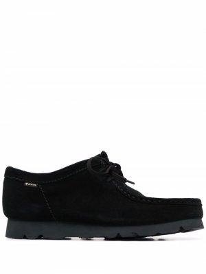 Туфли Wallabee Clarks. Цвет: черный