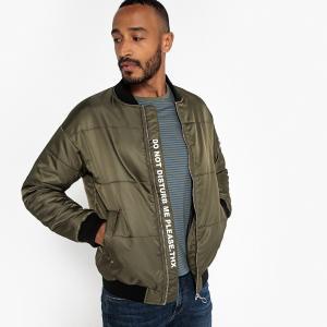 Куртка-бомбер с водоотталкивающей пропиткой LA REDOUTE COLLECTIONS. Цвет: зеленый хаки