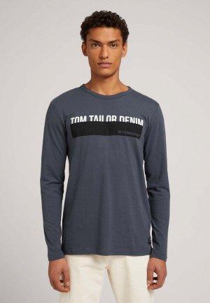 Лонгслив Tom Tailor Denim. Цвет: серый