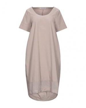 Платье до колена EUROPEAN CULTURE. Цвет: голубиный серый
