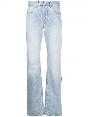 Прямые джинсы Off-White. Цвет: синий