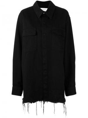 Удлиненная джинсовая куртка Marquesalmeida Marques'almeida. Цвет: чёрный