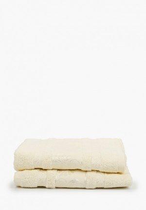 Набор полотенец Эго 2 шт., 50х85 см. Цвет: бежевый