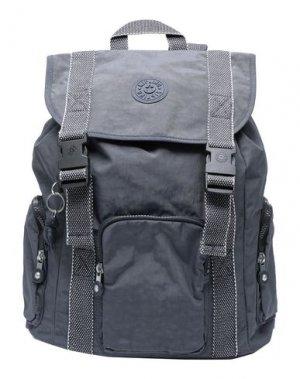 Рюкзаки и сумки на пояс KIPLING. Цвет: свинцово-серый