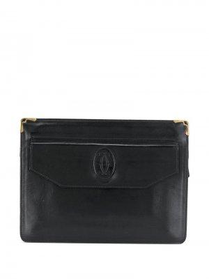 Клатч с тисненым логотипом Cartier. Цвет: черный