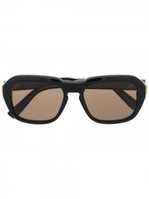 Солнцезащитные очки Caine в квадратной оправе Dunhill. Цвет: черный