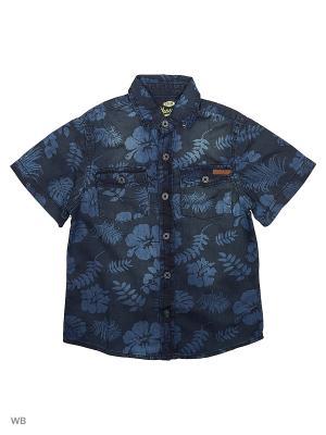 Рубашка E-bound. Цвет: темно-синий