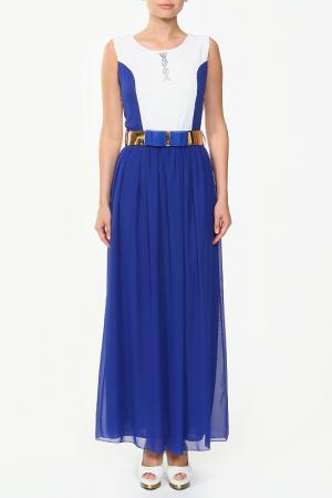 Платье с ремнем NUDIE. Цвет: мультицвет