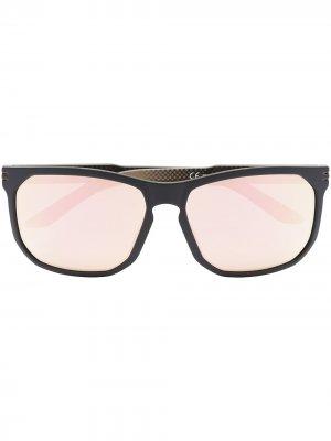 Солнцезащитные очки в квадратной оправе Rudy Project. Цвет: черный