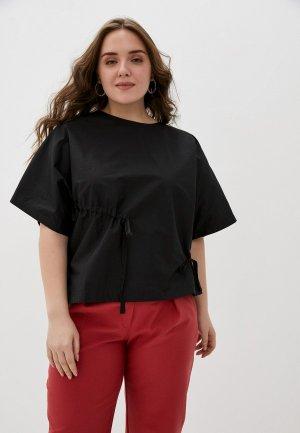 Блуза Снежная Королева. Цвет: черный