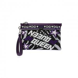 Футляр для документов Dolce & Gabbana. Цвет: фиолетовый