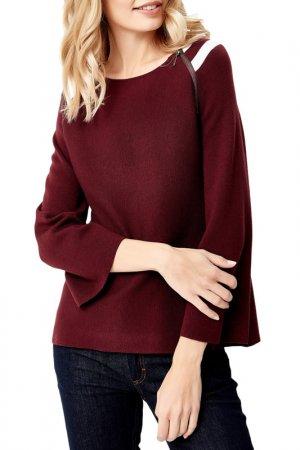 Пуловер MANODE. Цвет: burgundy, white