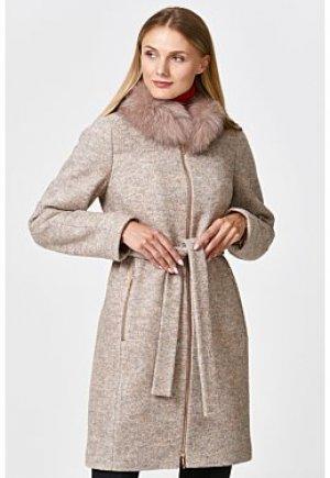 Пальто с утеплителем ISOSOFT и отделкой мехом песца Elema