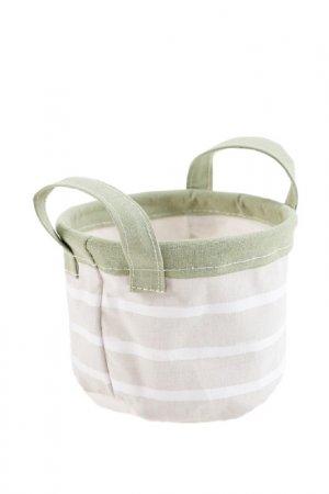 Текстильная корзинка, 12 х14 ЭТЕЛЬ. Цвет: бежевый
