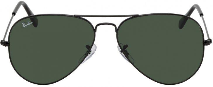 Black Aviator Classic Sunglasses Ray-Ban. Цвет: black