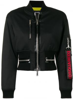 Укороченная куртка-бомбер Dsquared2