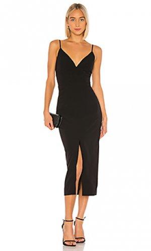 Платье миди dianna Bardot. Цвет: черный
