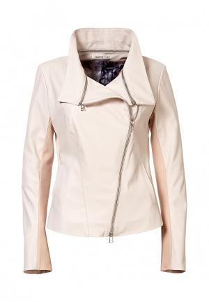 Куртка кожаная Grafinia MP002XW0FDTZ. Цвет: бежевый