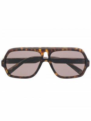 Солнцезащитные очки-авиаторы черепаховой расцветки Givenchy Eyewear. Цвет: коричневый