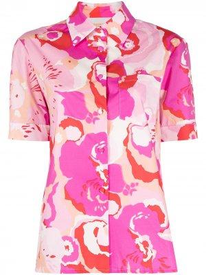 Длинное платье Damigella с абстрактным принтом La Doublej. Цвет: розовый