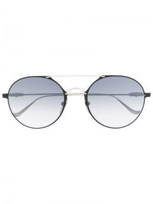 Солнцезащитные очки в круглой оправе Chrome Hearts. Цвет: серебристый