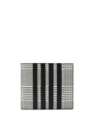 Клетчатый бумажник с полосками 4-Bar Thom Browne. Цвет: черный