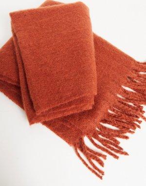 Красный фактурный шарф-одеяло ASOS DESIGN