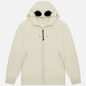 Мужская толстовка Diagonal Raised Fleece Goggle Hoodie C.P. Company. Цвет: бежевый