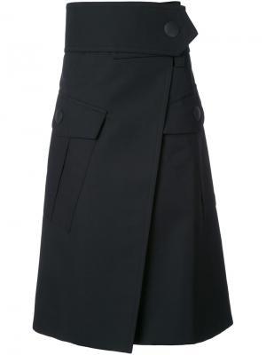 Юбка с большими карманами Marni. Цвет: чёрный