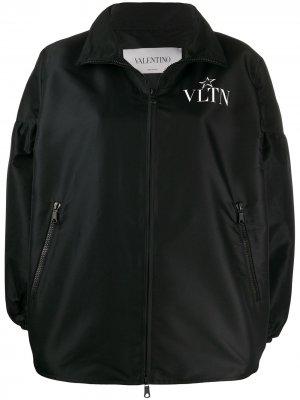 Бомбер с логотипом Valentino. Цвет: черный