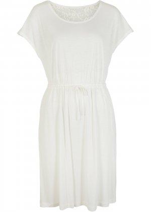 Платье пляжное bonprix. Цвет: белый