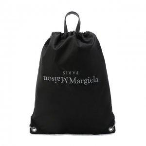 Текстильный рюкзак Maison Margiela. Цвет: чёрный
