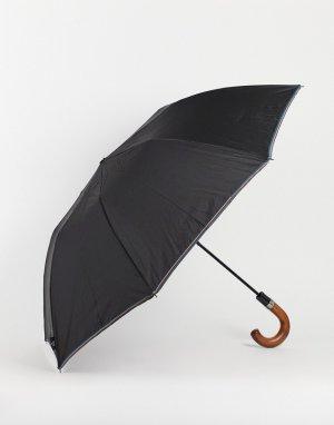 Зонт с многоцветной отделкой по краю -Черный цвет Ted Baker