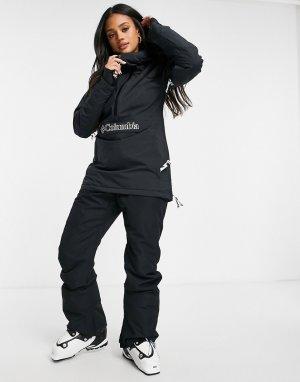 Горнолыжная утепленная куртка черного цвета Dust on Crust-Черный Columbia