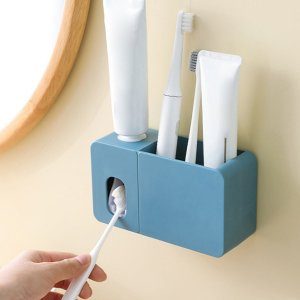 Настенная соковыжималка для зубной пасты 1шт SHEIN. Цвет: синий