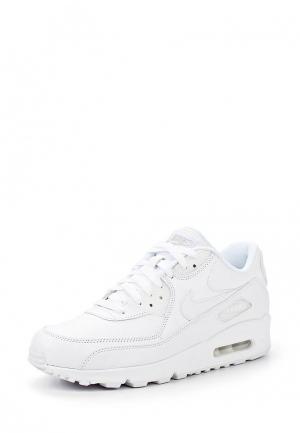 Кроссовки Nike Mens Air Max 90 Leather Shoe. Цвет: белый