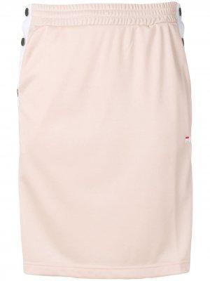 Спортивная юбка Jenna на пуговицах Fila. Цвет: розовый