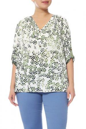 Блуза Elena Miro. Цвет: белый, зеленый